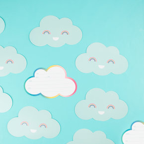 8 invitations Nuages My Little Day (enveloppe + carton) - 4,5€ TTC