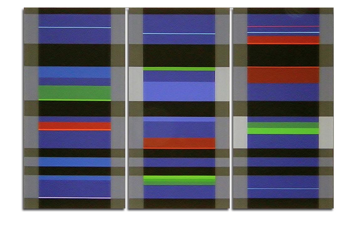 Acrylique sur toile tryptique - 100x140x4 cm
