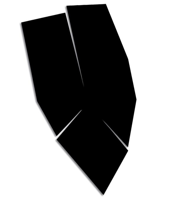 « Une poursuite sans relâche au crépuscule des yeux clos. » Acryl./toile 143 x 80 x 4 cm. 01/ 2018