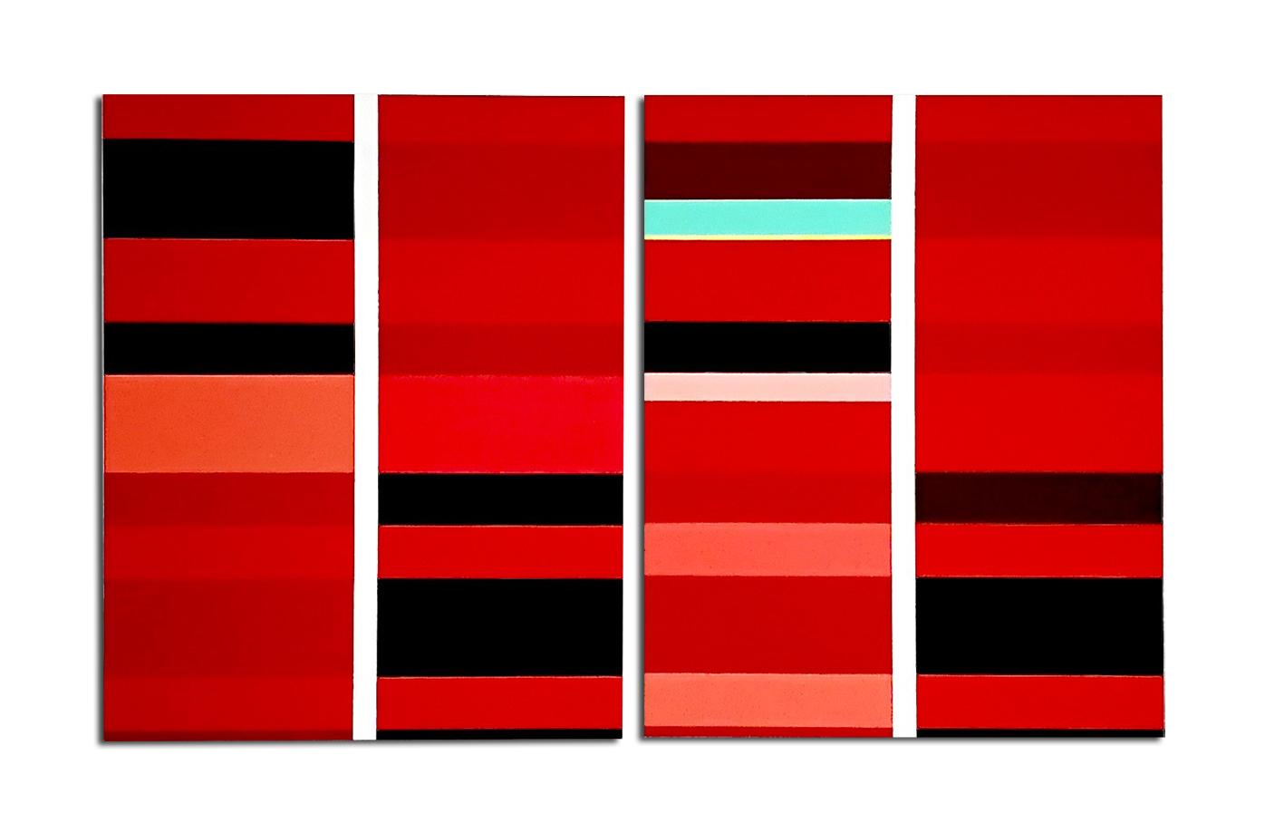 - Acrylique sur toile dyptique - 90 x 150 x 4 cm