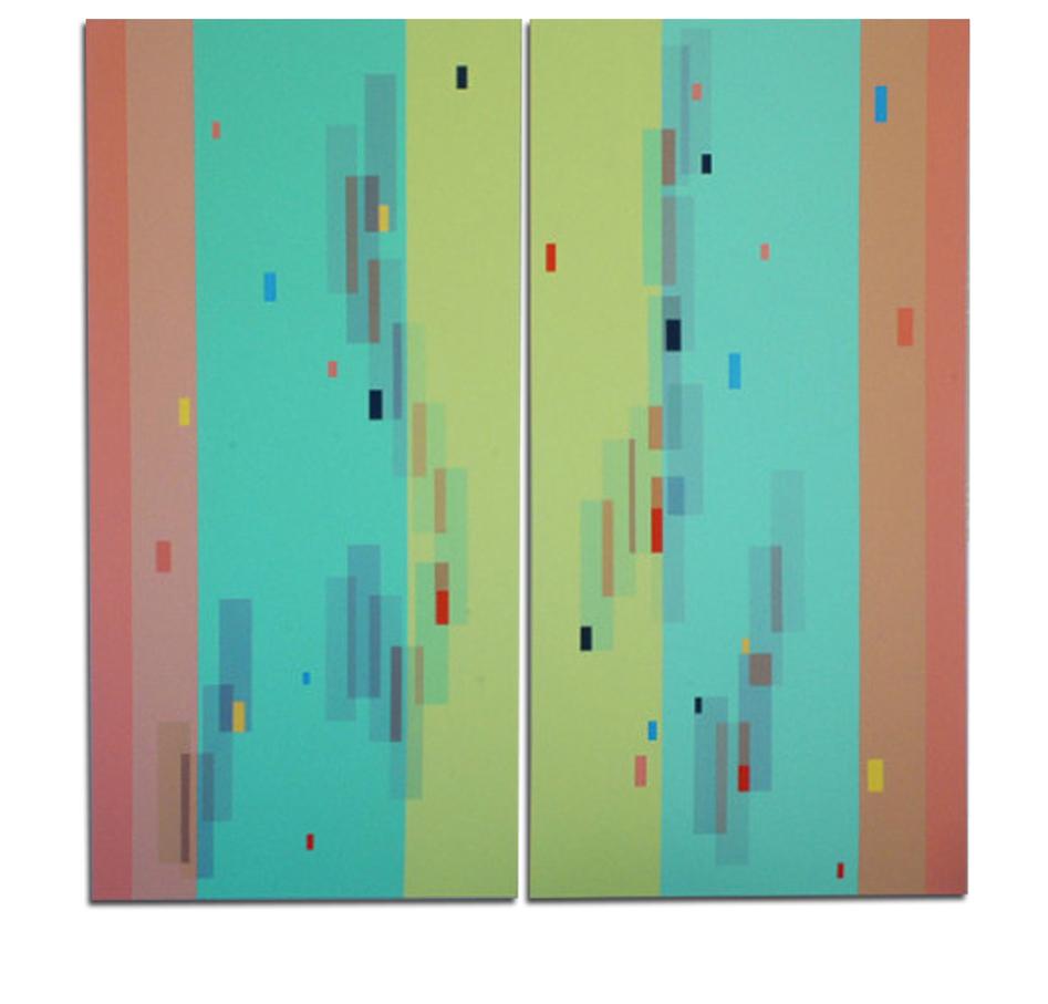 Acrylique sur toile - dyptique - 160x120x4 cm