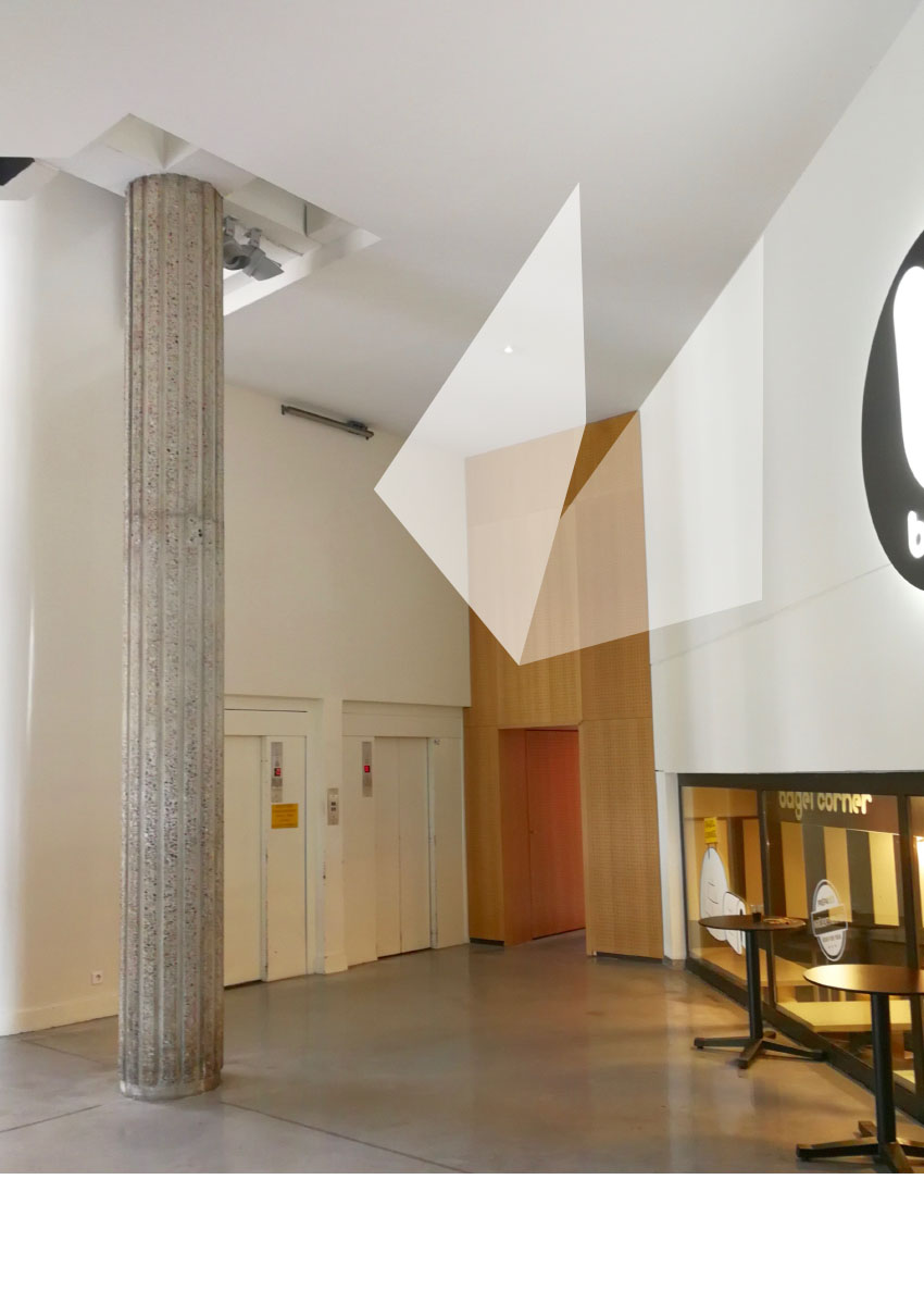 Peinture murale - Hall centre culturel Bonlieu - Annecy