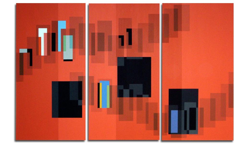 Acrylique sur toile - tryptique - 90x130x4 cm