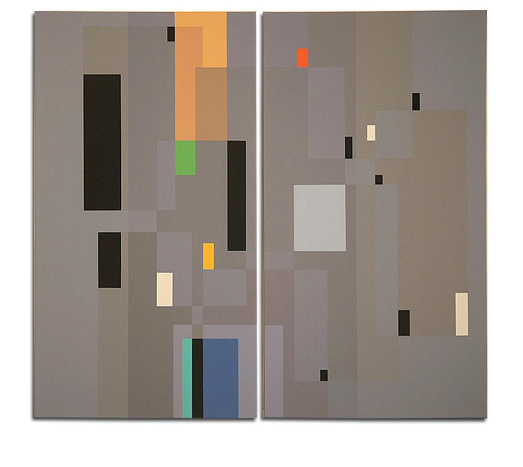 Acrylique sur toile - dyptique - 130x110x4 cm