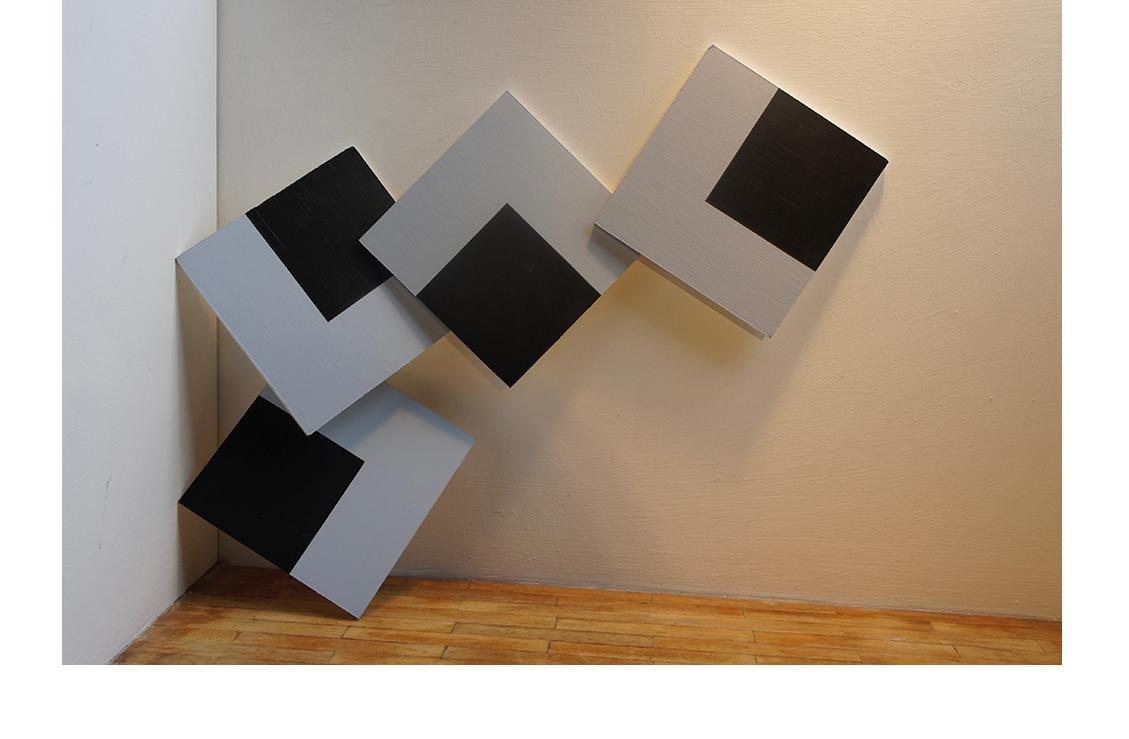 Acrylique sur toile 300x300 cm