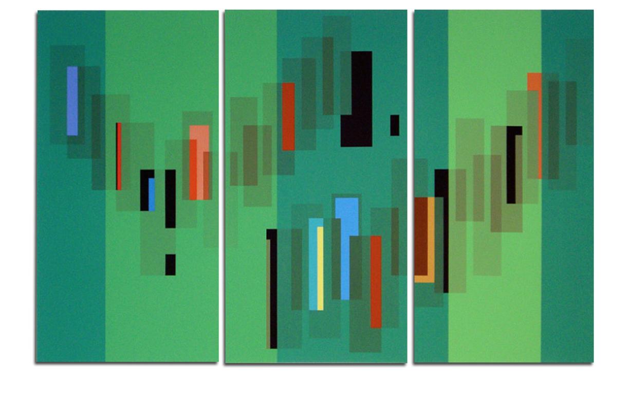 Acrylique sur toile - tryptique - 130x90x4 cm