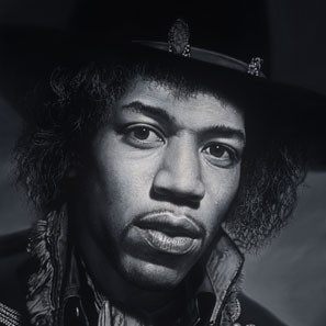 Portrait paint of Jimmy Hendrix