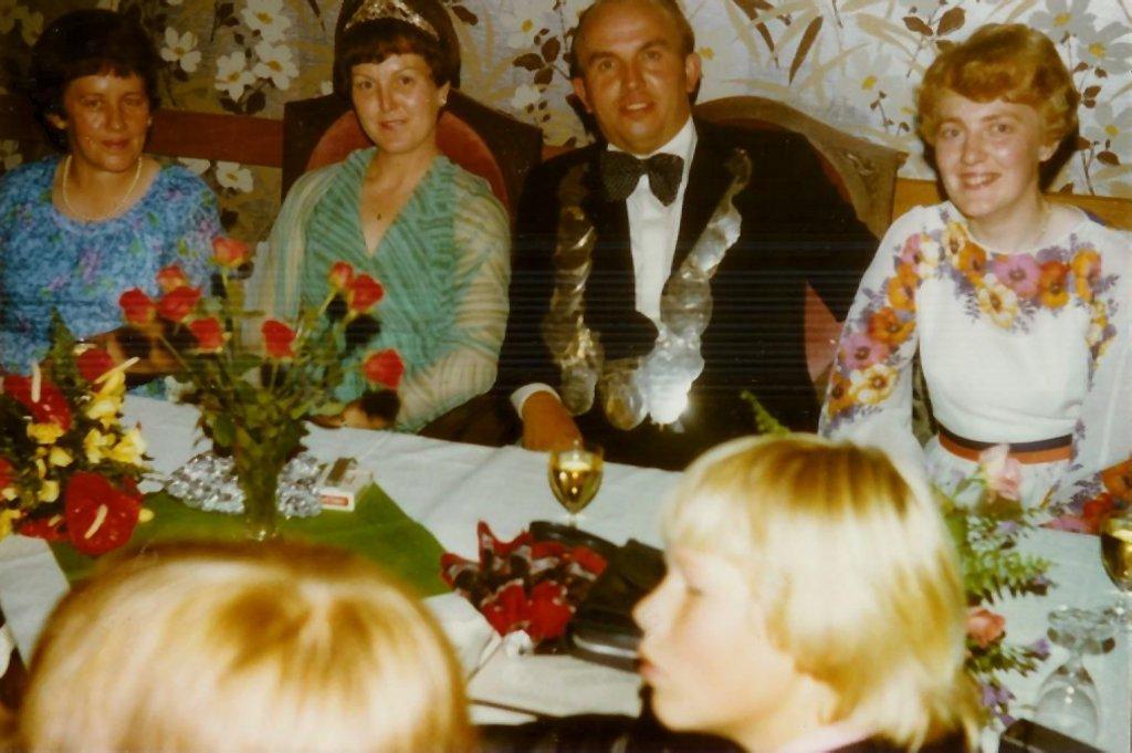 König 1978: Hermann Rengers, Königin: Marianne Meyer, Ehrendamen: Monika Rengers und Alwine Kösters