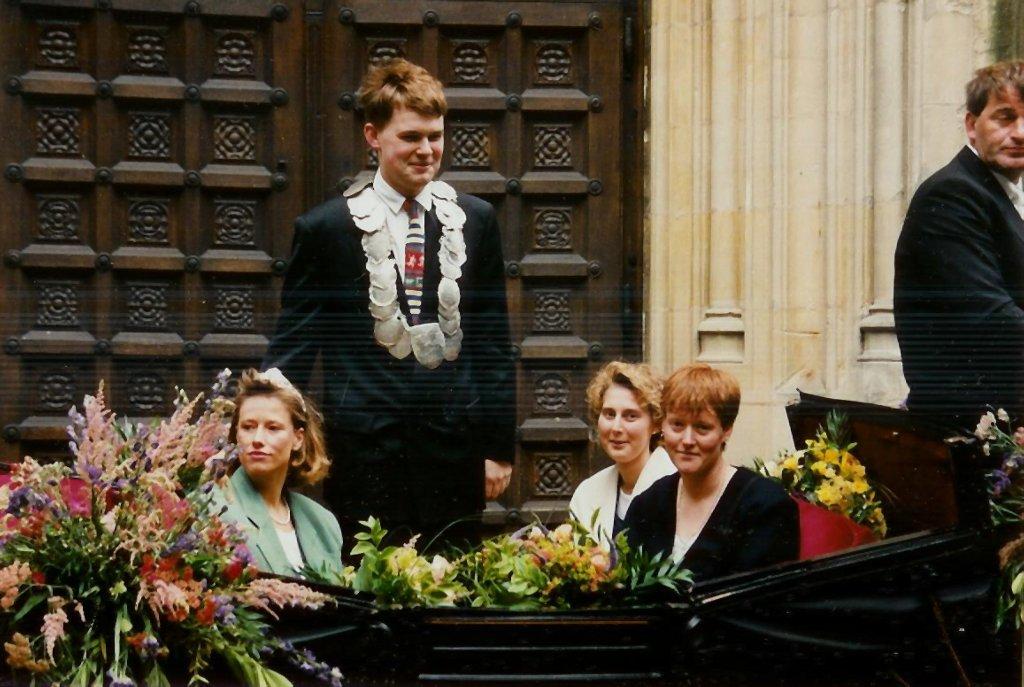 König 1996: Carsten Rampe, Königin: Elke Kübler, Ehrendamen: Heike Greb und Britta Köpisch