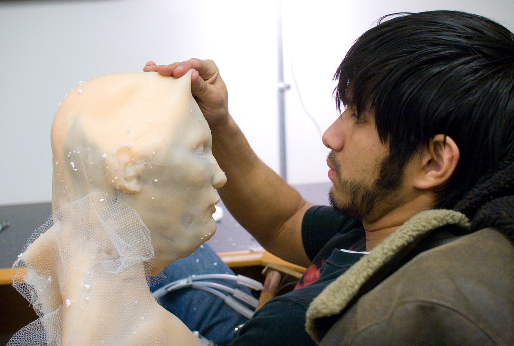 Eric Zapata prepping some FX work.