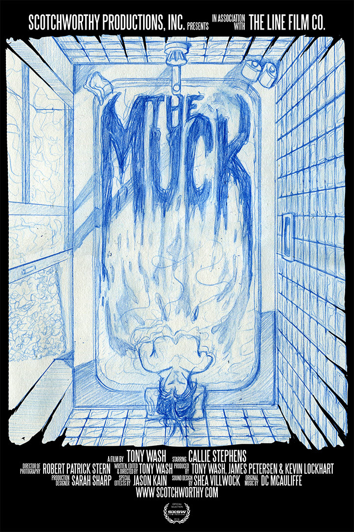 Initial sketching of the poster for The Muck.  Being designed by Brandon Duncan.