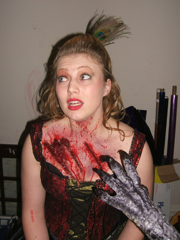 Danielle Nortum after some of her FX makeup was applied.