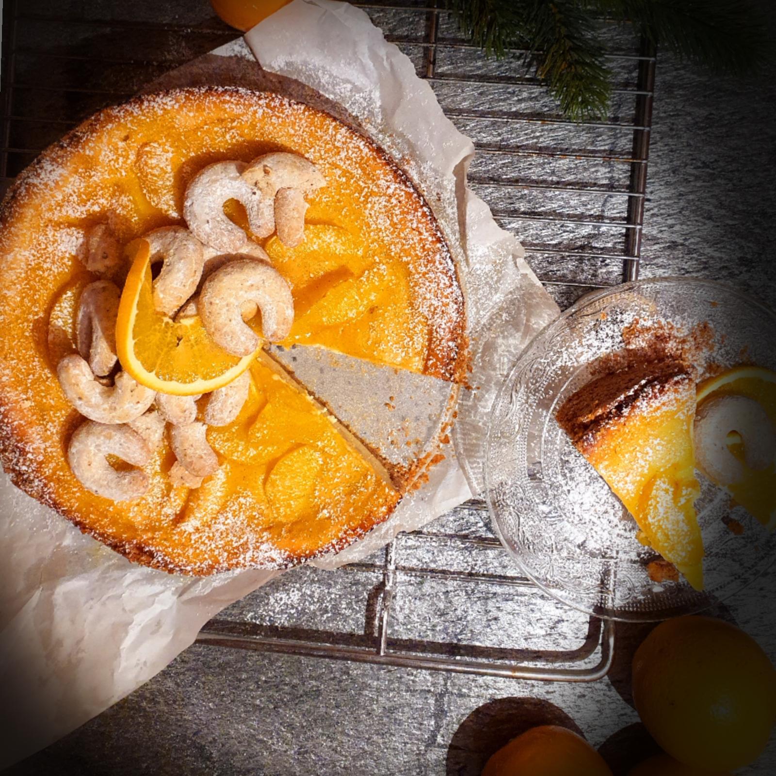 Orangen Punsch Tarte