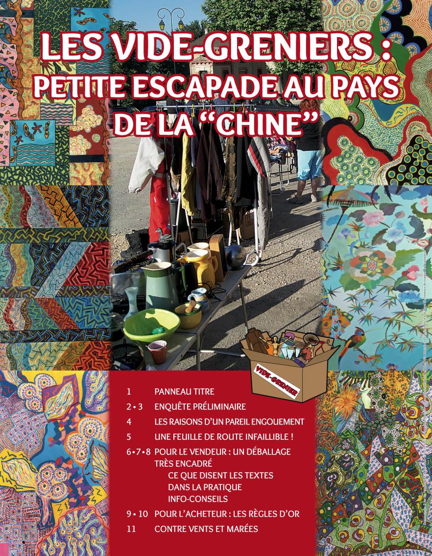 """LES VIDE-GRENIERS, PETITE ESCAPADE AU PAYS DE LA """"CHINE"""""""