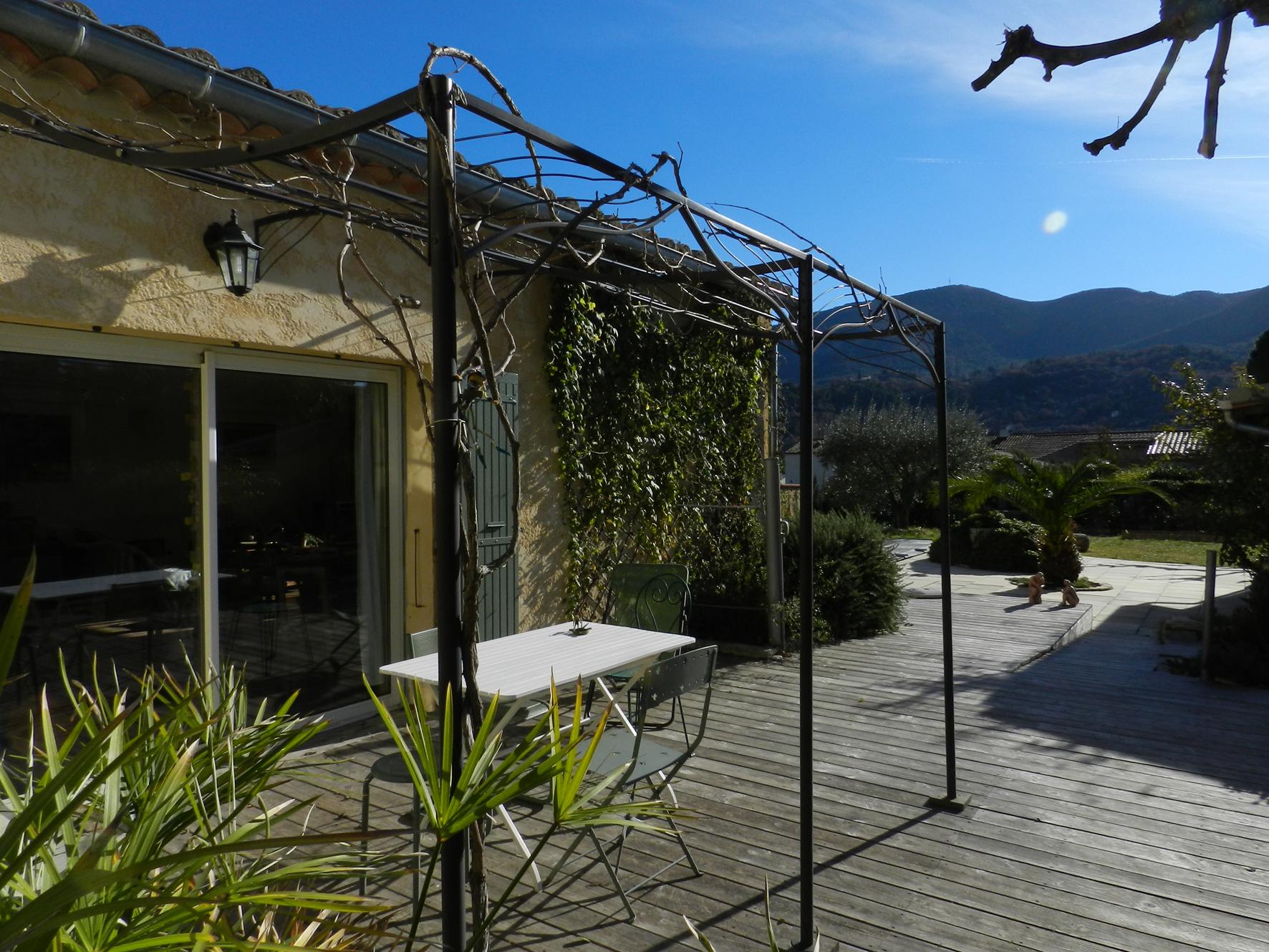 Vue de la terrasse ouest à l'automne