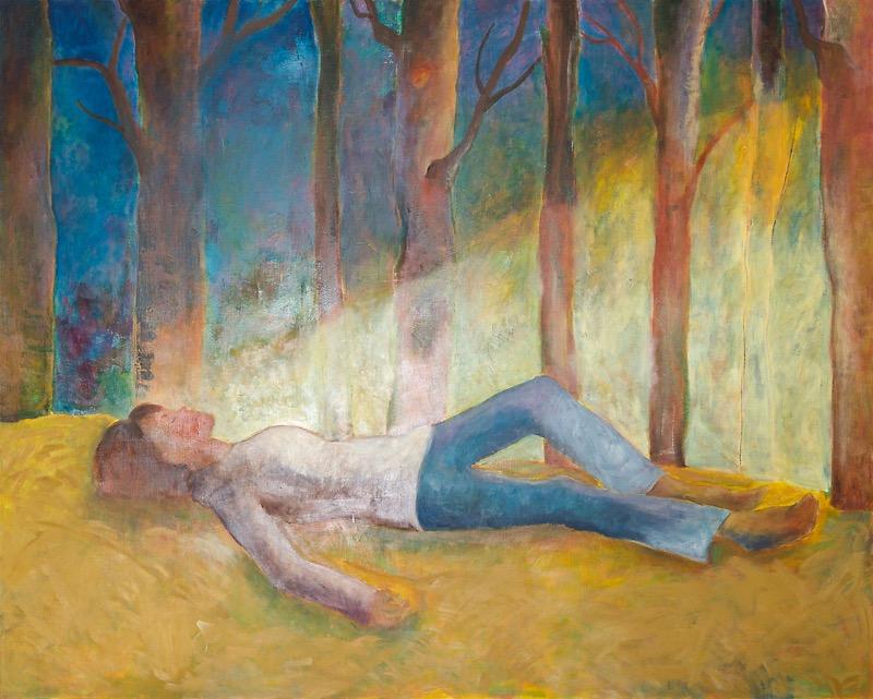 油彩画「動き出す日」の画像