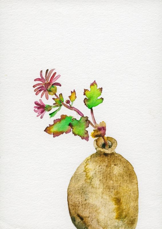 水彩画「花」の画像