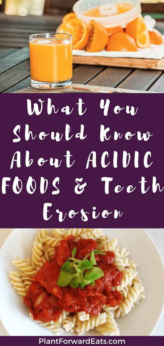 Wondering about acidic foods to avoid or an acidic foods list? Learn about teeth enamel repair, tooth enamel repair & tooth erosion repair. #acidicfoods #acidicfood #teeth #toothenamel #dentalhealth #tooth #juice