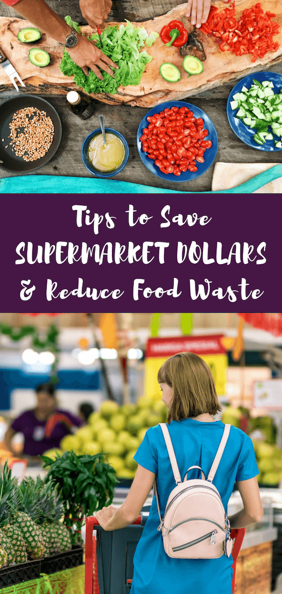 Ready to reduce food waste? Want to save on your grocery bill while you do your grocery shopping? You can save supermarket dollars and helps save the earth! #foodwaste #grocerybill #supermarket #savemoney #money #earthday #nutrition #grocerylist