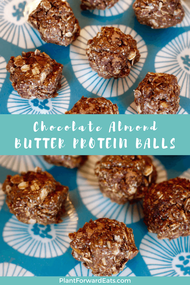 Wondering how to make energy balls or energy bites? It's so easy with these gluten free chocolate almond butter protein balls. Plus, these healthy breakfast balls are a no bake recipe! #healthybreakfast #energyballs #healthyrecipe #almondbutter #nobake