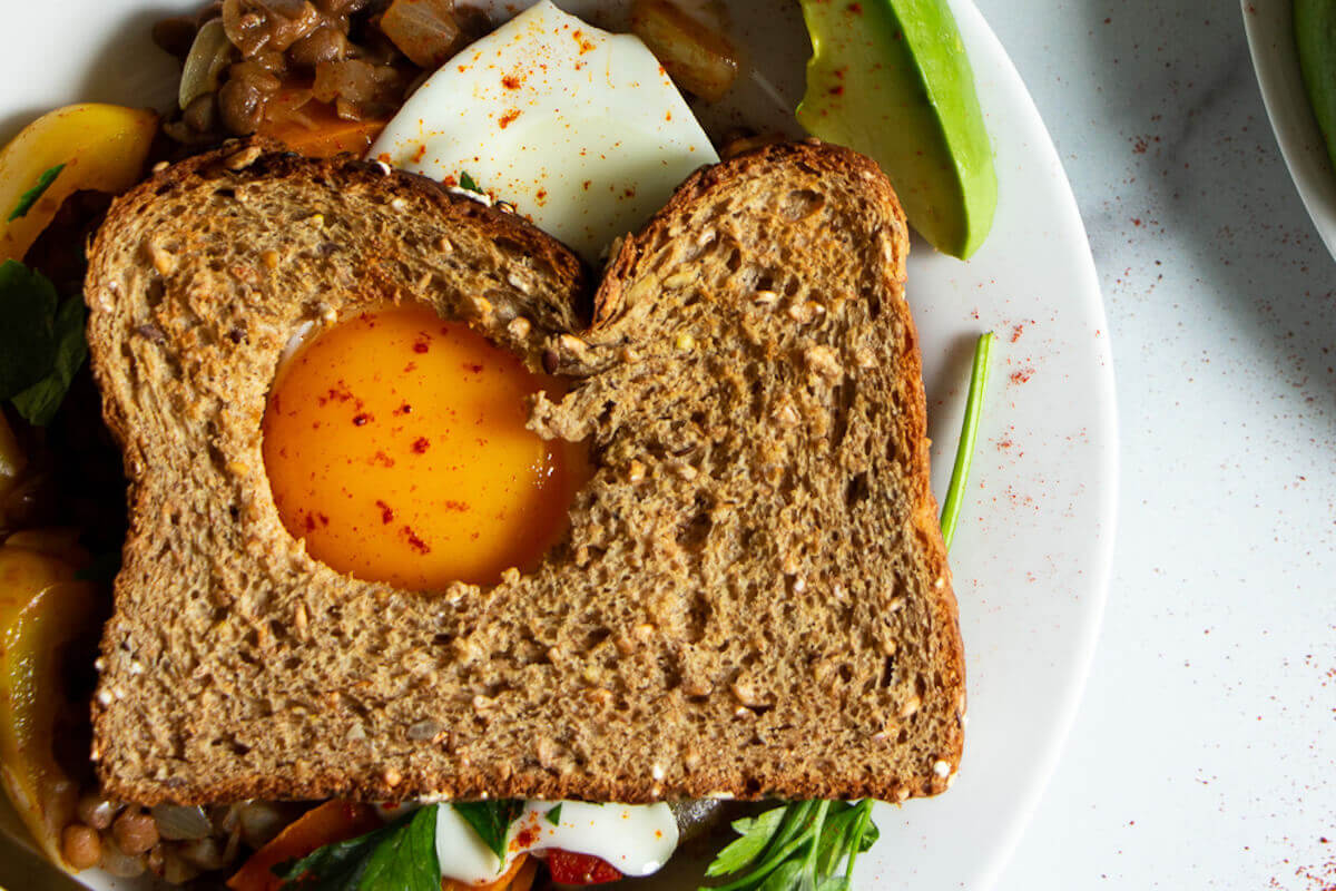 Vegetarian Lentils with Egg Toast Recipe