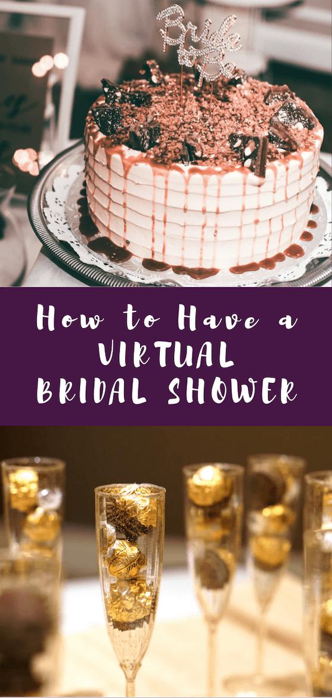 Want virtual party ideas? Need virtual bridal shower ideas? Get ideas for virtual bridal shower invitations, virtual bridal shower games & virtual bridal shower decorations.  #bridalshower #virtualparty #wedding #showergames