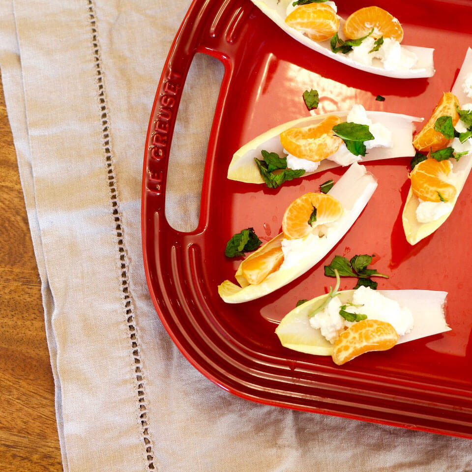 Endive with Goat Cheese, Mandarin Orange & Mint Recipe