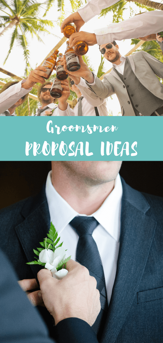 Need groomsmen gifts & groomsmen proposal ideas? How about best man proposal and best man gifts, too? These wedding ideas will make your bridal party smile. #wedding #proposal #groomsmen #bestman #groom #diywedding #weddingdiy #budgetwedding #weddinggift
