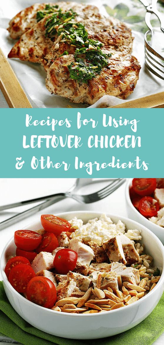 Looking for recipes using leftover chicken & other ingredients? These time saving hacks are some of the best kitchen ideas. Cook once eat all week, or cook once eat twice! #cookonceeattwice #leftovers #leftoverchicken #leftoverpork #veggies #recipes