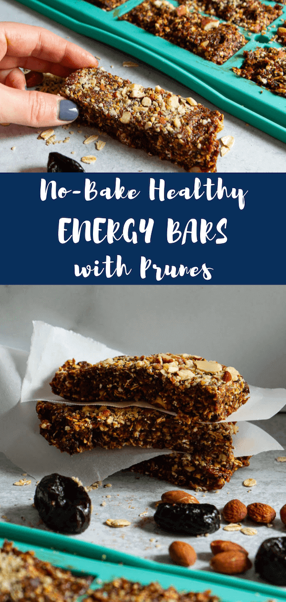 Love homemade energy bars that are healthy & no bake? These No-Bake Healthy Energy Bars w/ @Sunsweet  Prunes serve double duty by being good for your bone health, in celebration of World Osteoporosis Day. #ad #ToFeelGood #SunsweetStrong #energybars #vegan