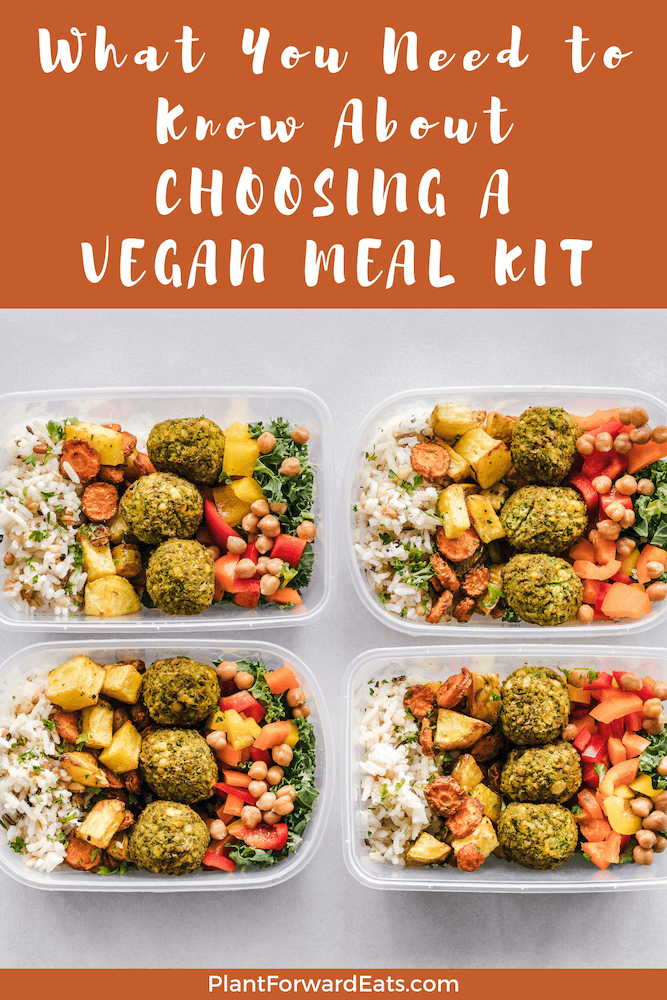 Interested in vegan meal prep? Need vegan meal ideas? Find out about vegan meal kits & vegan meal delivery services. #mealkit #vegan #mealkits #mealdelivery #healthyeating #nutrition #mealprep #plantbased #vegetarian #weightloss