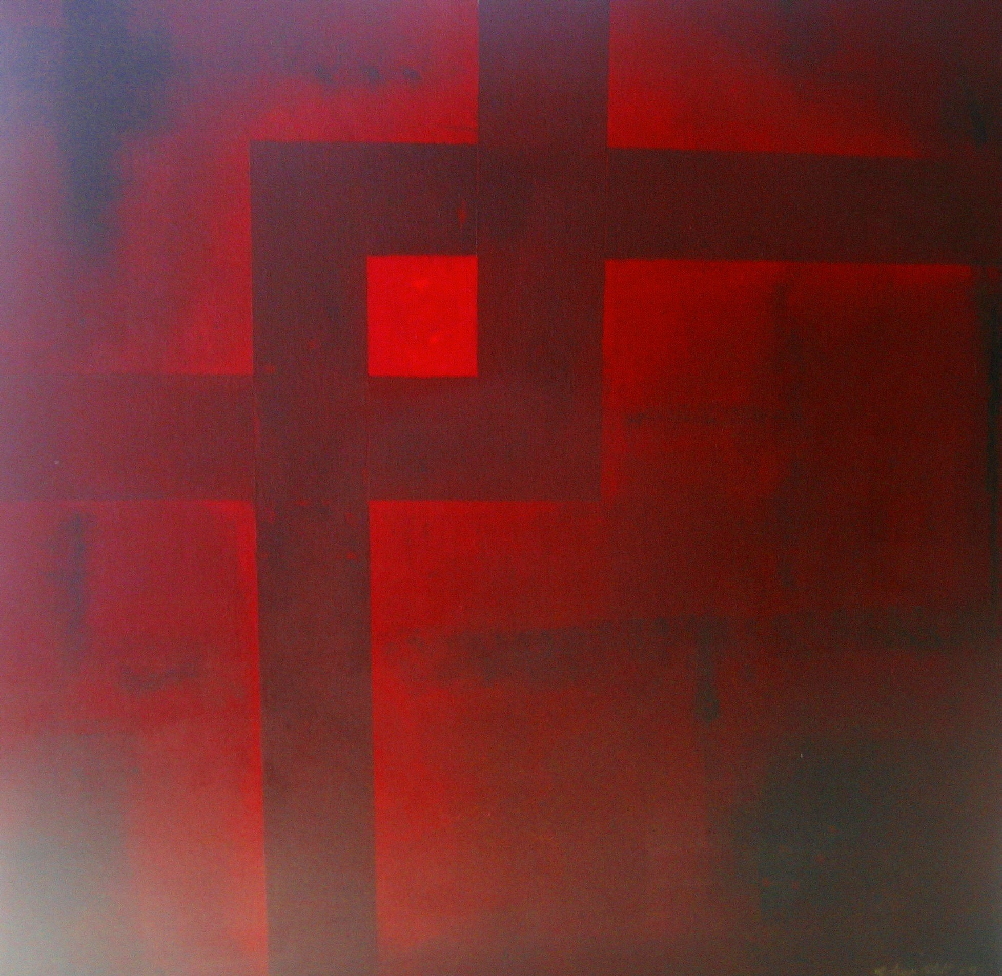 Schnittmenge II, Acryl auf Leinwand, 70 x 70 cm