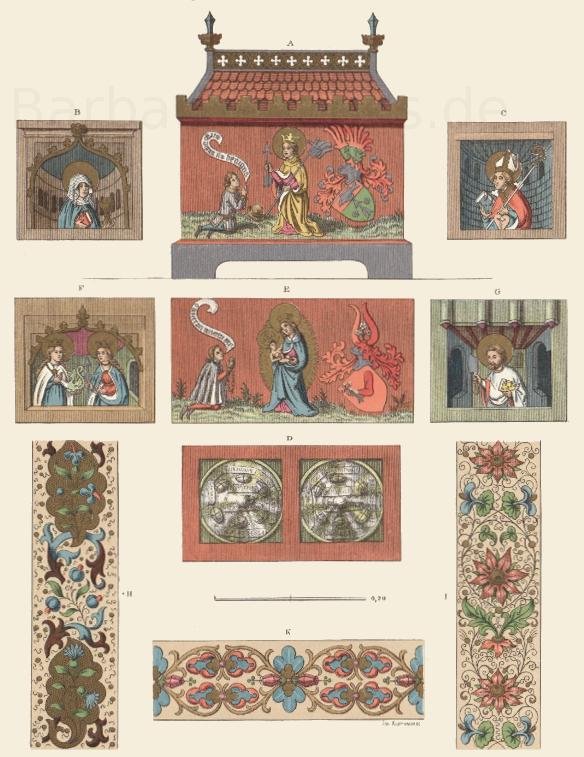 Reliquienkästchen aus Holz aus der zweiten Hälfte des 15. Jahrhunderts.