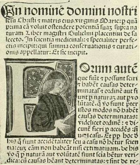 Saliceto, Guilielmus de. Summa conservationis et curationis. Venetiis 1490.