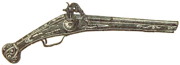 Symbolbild einer Handfeuerwaffe mit Flintlock