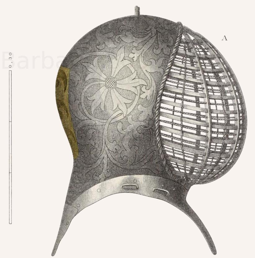 Turnierhelm aus der Mitte des 15. Jahrhunderts.