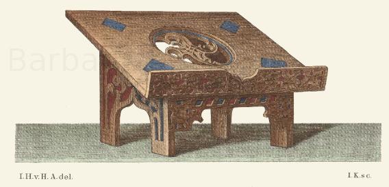 Lesepult, zum Auflegen eines Messbuches auf dem Altar, aus der zweiten Hälfte des 15. Jahrhunderts.