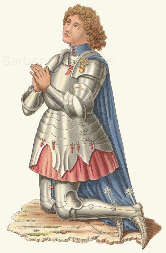 Wilhelm I., Markgraf von Baden (gest. 1473), aus dem Geschlecht der Hochberg, nach einem Wandgemälde im Dom zu Konstanz.