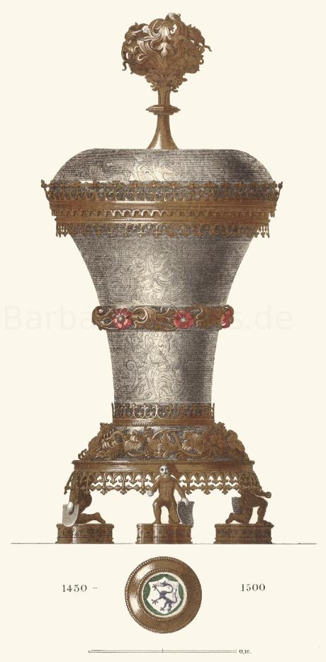 Silberner Pokal aus der zweiten Hälfte des 15. Jahrhunderts