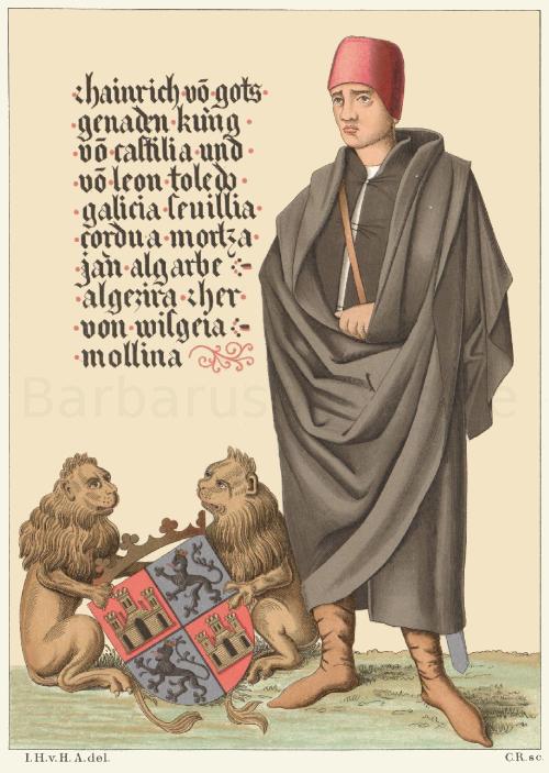 Heinrich IV., König von Spanien (gest. 1474), nach einem Pergamentgemälde.