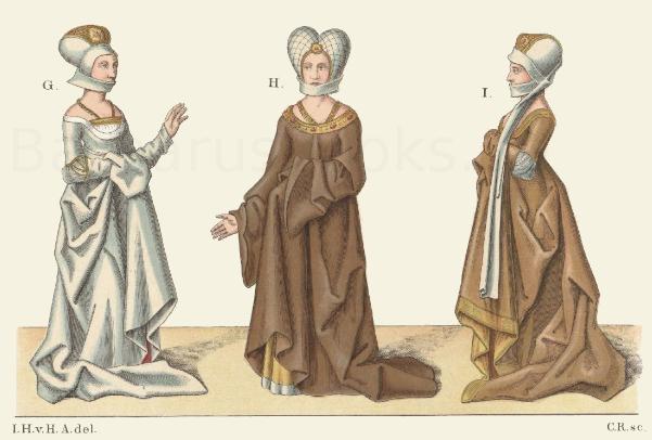 Frauentrachten aus dem 15. Jahrhundert