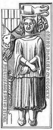 Ein merkwürdiger Grabstein Grabplatte aus dem Mittelalter