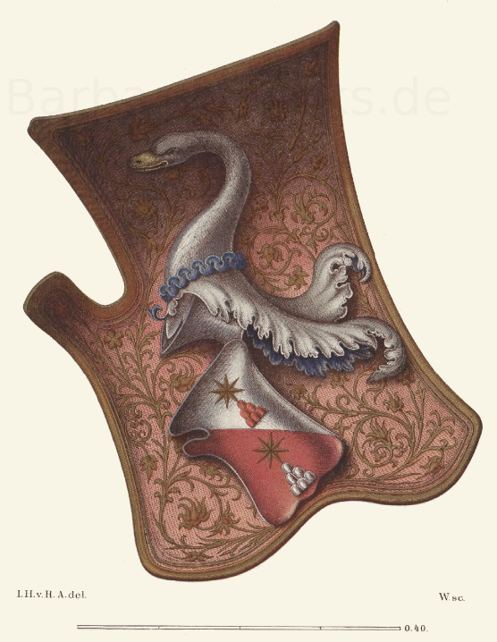 Reiterschild oder Tartsche, aus der Mitte des 15. Jahrhunderts.
