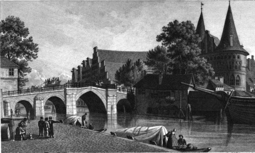 Ansicht der Holstenbrücke in Lübeck