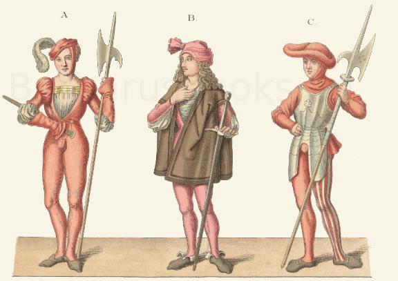 Männertracht aus dem 15. Jahrhundert