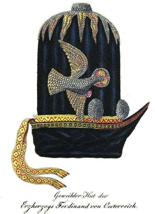 Geweihter päpstlicher Hut