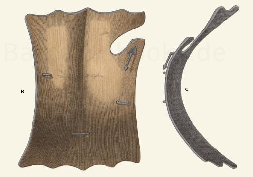 Tartsche oder Reiterschild aus der Mitte des 15. Jahrhunderts