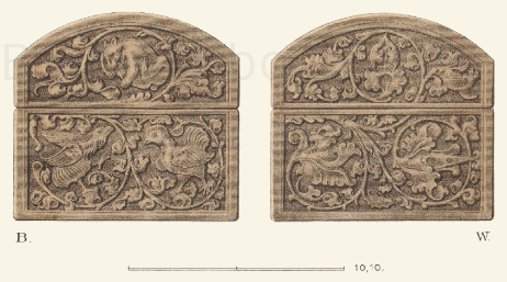Schmuckkästchen aus braunem Leder, aus der Mitte des 15. Jahrhunderts