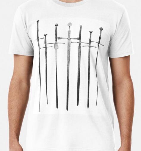 T-Shirt mit Konvolut ritterlicher Schwerter