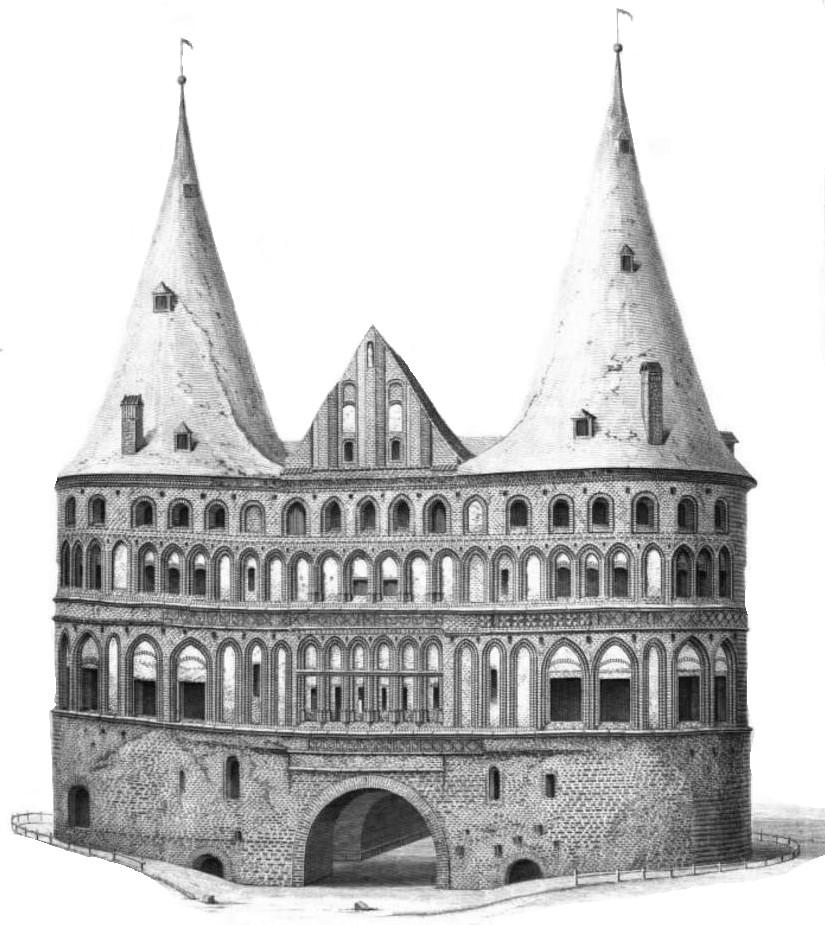 Holsteiner Tor Holstentor historisches Bild Lübeck Hanse Hansestadt